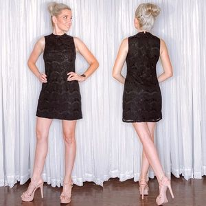 Black Lack High Neck Dress